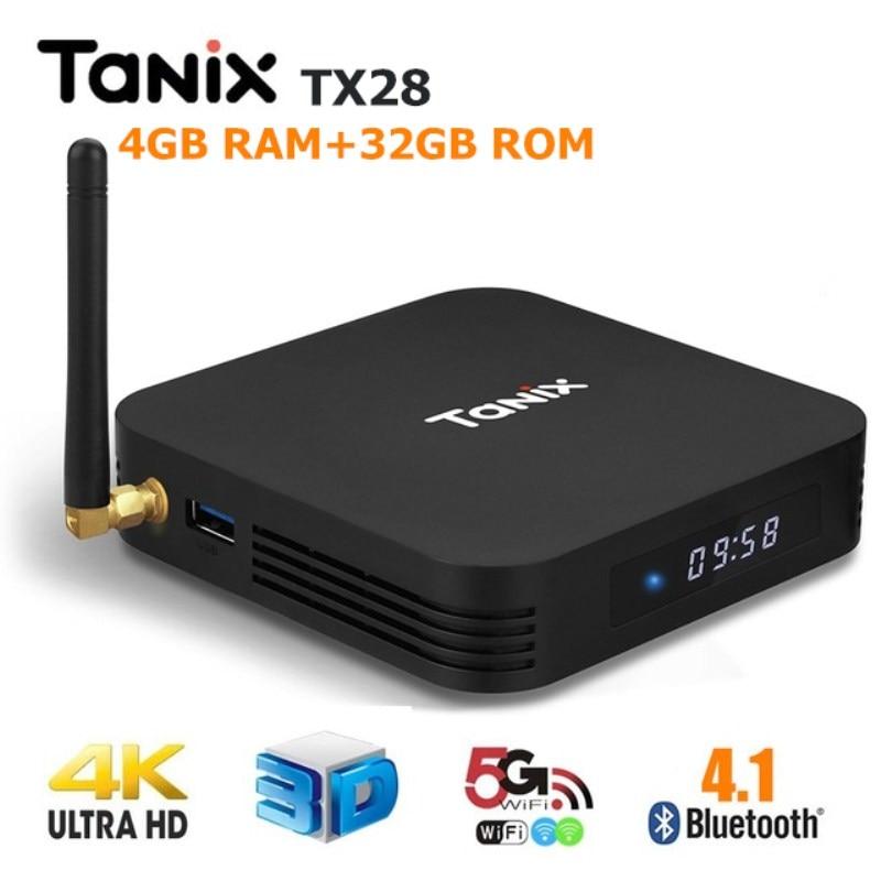 Tanix TX28 TV Box RK3328 4GB RAM + 32GB ROM 100Mbps 4K media player Set Top Box