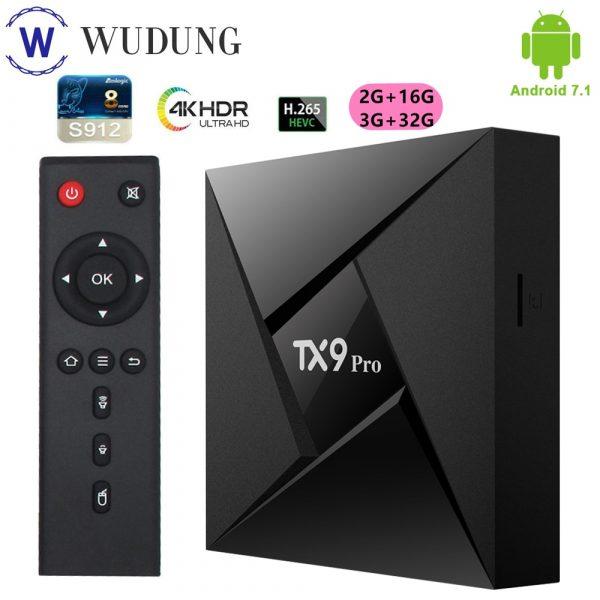 Tanix TX9 Pro Smart TV Box 4K HD Smart Set Top Boxes 2.4G WiFi 16G Home Media Player