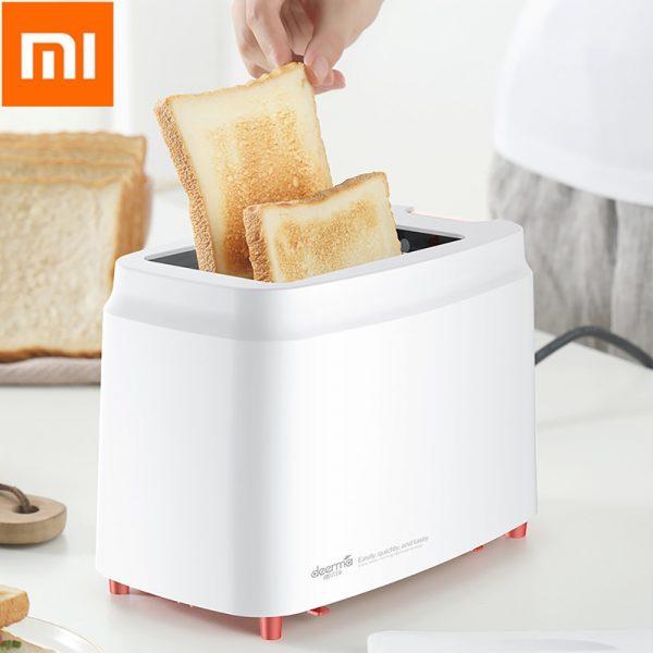 Deerma 2-slice Fully Automatic Toaster Bread Maker Household Breakfast Machine Electric Baking Machine