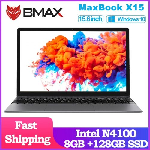 BMAX X15 Laptop 15.6 inch UHD Graphics 600 8GB LPDDR4 RAM 128GB SSD ROM Notebook Computer