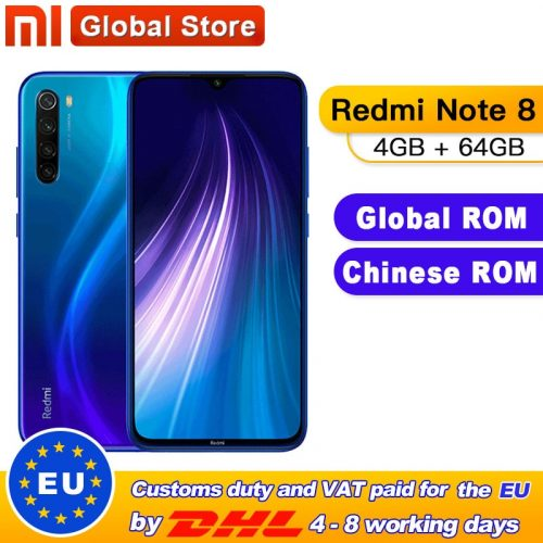Xiaomi Redmi Note 8 6.3-inch 4GB + 64GB – 128GB FHD Screen Smartphone Global Version Phone