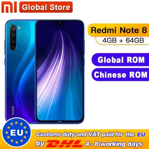Xiaomi Redmi Note 8 6.3-inch 4GB + 64GB – 128GB FHD Screen Smartphone Global Version Phone