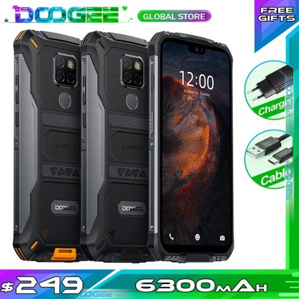 Doogee S68 Pro Global Version 4G Smartphone 5.9 inch FHD+ Screen 6300mAh NFC 128GB Waterproof Rugged Phone