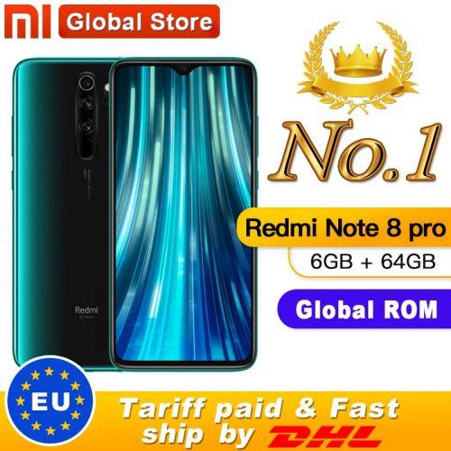 Xiaomi Redmi Note 8 Pro 4G Smartphone 6.53-inch FHD+ Screen 64MP Quad Cameras 64GB NFC Global Phone