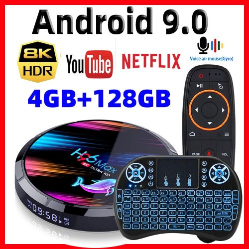 H96 Max X3 Smart TV Box 4K/8K Amlogic S905 X3 Chipset Support H265 VP9 Video Decoding 2.4G 5G Wifi 1000M LAN