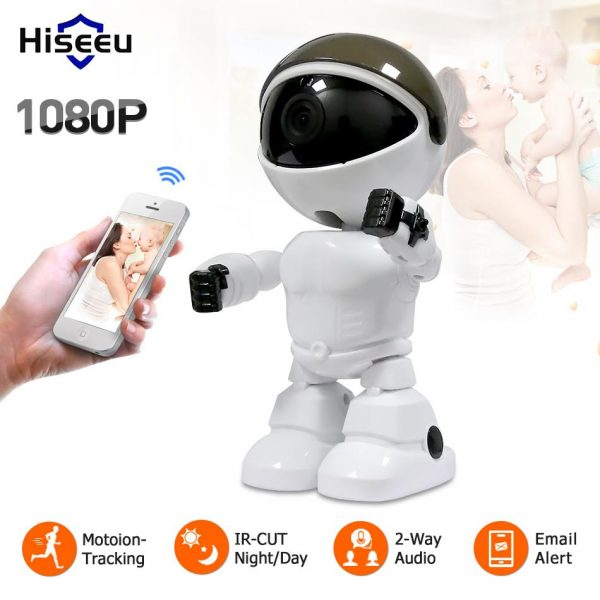 Hiseeu 2MP HD Wireless IP Robot Camera