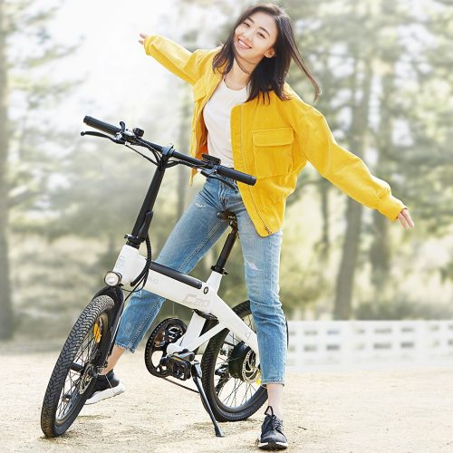HIMO C20 20-Inch Foldable City Electric Bike 250W Motor Max 25km/h 10Ah Battery 80KM Variable Speed Bicycle