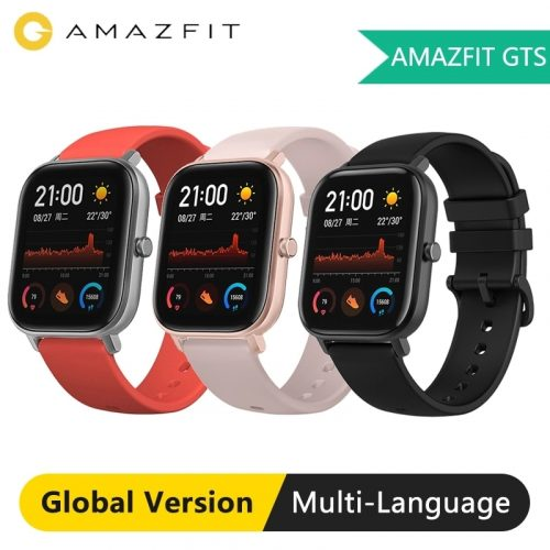 AMAZFIT GTS 1.65 inch AMOLED Display Waterproof Smart Watch 12 Sports Mode Music Control Global Version Smartwatch