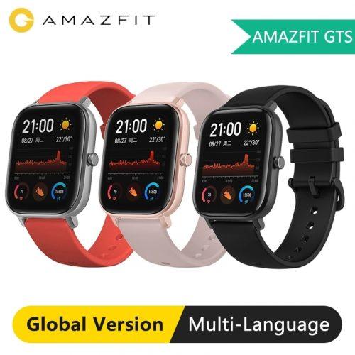AMAZFIT GTS 1.65 inch AMOLED Display Waterproof Smart Watch 12 Sports Mode Music Control Global Version Smartwatch
