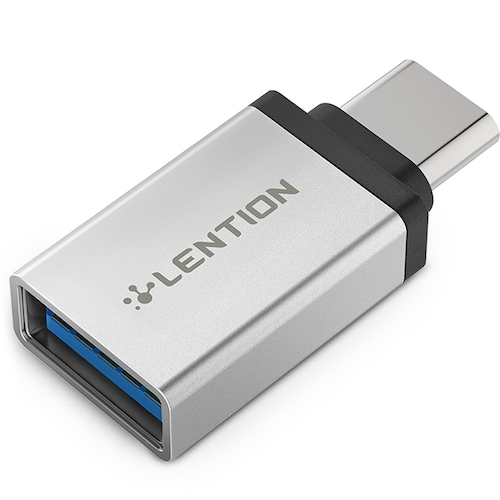 LENTION C3 USB C Female to USB A Male Adapter, Type C to Type A Charger Converter For MacBook