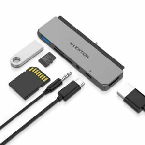 LENTION Multi-ports Hub Converter USB-C to USB HDMI Display Port VGA RJ45 TF SD Slot Docking Station