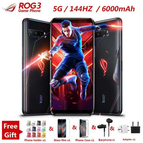 ASUS ROG 3 Gaming Phone 6.59″ Global Version 12/16GB RAM + 128/256G/512GB ROM FHD+ AMOLED 5G Smartphone