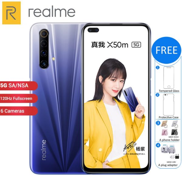 Realme X50m 5G Smartphone 6.57-inch FHD+ Screen 120Hz Refresh Rate 48MP Quad Rear Camera 128GB Phone