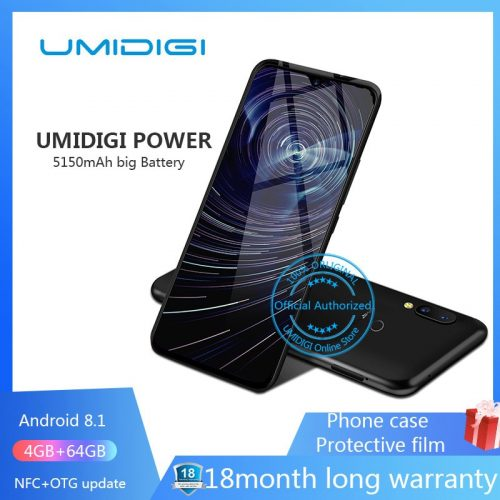 Umidigi Power 6.3 inch 4GB 64 ROM Smartphone Octa Core Android 9.0 16MP+16MP Phone
