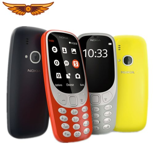 Original Nokia 3310 Cellphone (2017) With US/UK/EU/AU Charger 2.4-inch Screen 2G 2MP Dual SIM Cards Mobile Phone