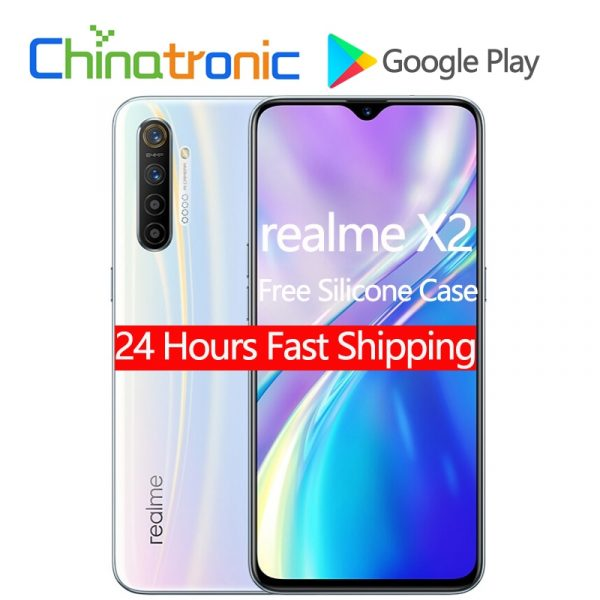 Realme X2 6GB-8GB + 64GB-256GB 4G FDD LTE Smartphone 6.4-inch FHD+  64MP Fast Charger NFC Phone