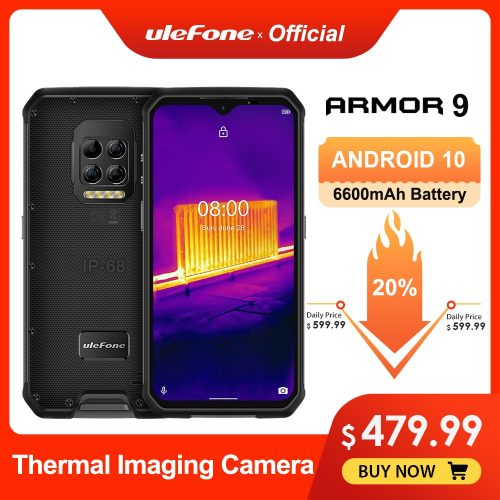 Ulefone Armor 9 Smartphone 128GB  Thermal Camera Rugged Outdoor Phone 6600mAh Battery 64MP Camera Phone