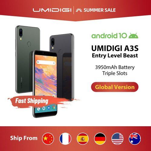 UMIDIGI A3S Global Band 4G Smartphone 16MP+5MP 13MP Selfie 5.7 inch 2GB+16GB Triple Slots Phone