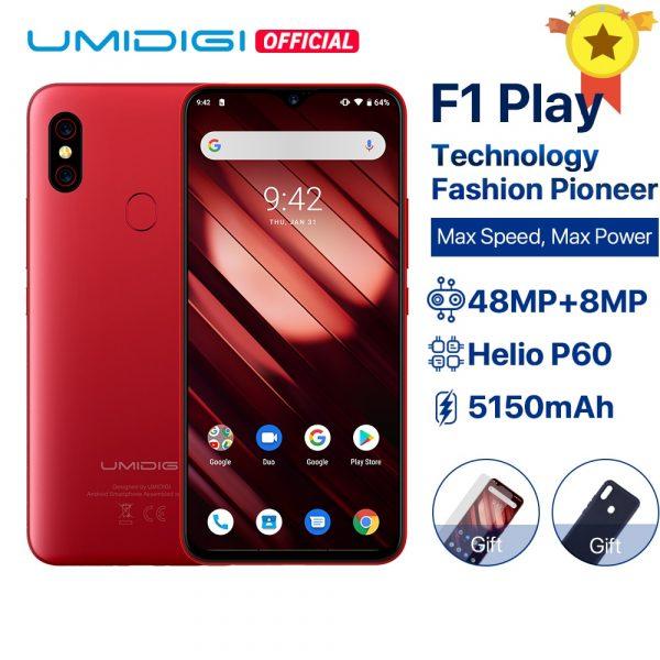 Umidigi F1 Play Dual 4G Smartphone 48MP + 8MP + 16MP Cameras 64GB 6.3-inch FHD+ Global Version Phone