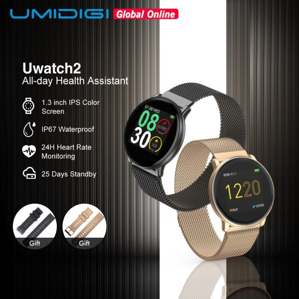 UMIDIGI Uwatch2 Full Touch Screen Smartwatch Entire Steel Body 24h Heart Rate Sports Mode Smart Watch