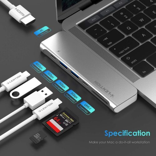 LENTION CS64THCR Data Hub for MacBook