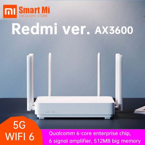 Xiaomi 2020 Redmi Router AX6 Wifi 6 6-Core 512M Memory Mesh Home IoT 6 Signal Amplifier