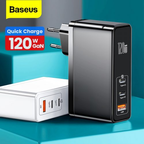 Baseus 120W GaN Quick Charger SiC USB C 120W CN Charging Adapter QC Type C PD Fast USB Charger