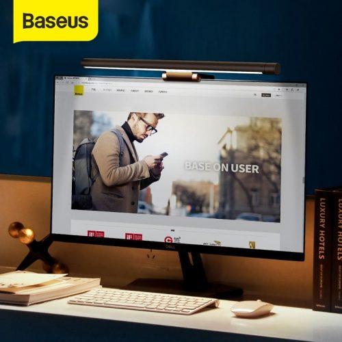 Baseus DGIWK-B01 Led Desk Lamp Adjustable Reading Screen Hanging Light USB Rechargeable Monitor Eye Protection Lamp