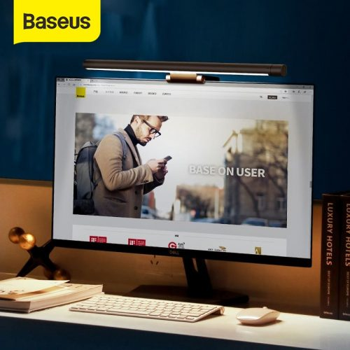Baseus DGIWK-B01 Led Desk Lamp Adjustable Reading Screen Hanging Light USB Rechargeable Monitor Eye Protection Lamp