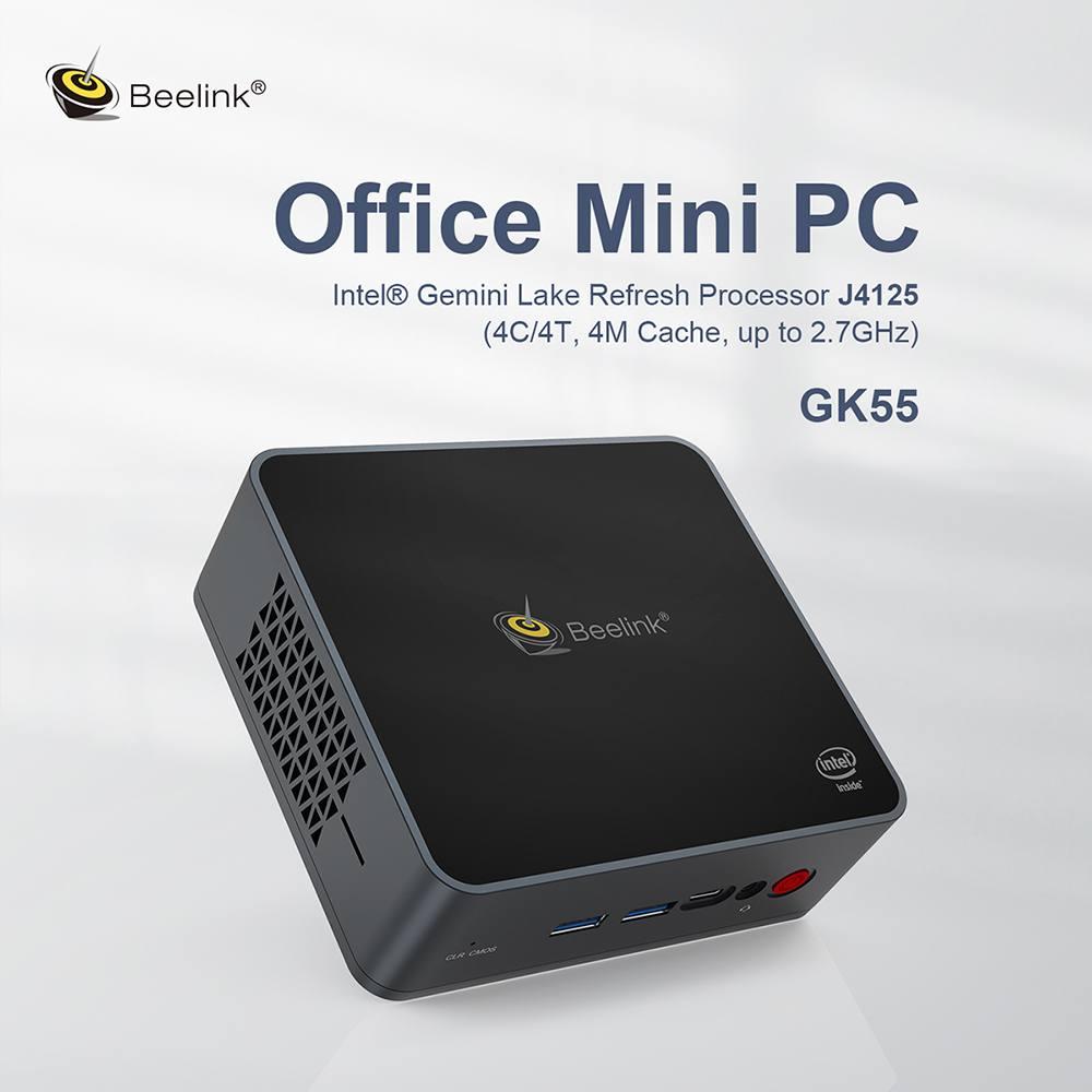 Beelink GK55 Dual HDMI Mini Computer 8GB RAM + 128GB SSD Expandable 2TB SSD Mini PC