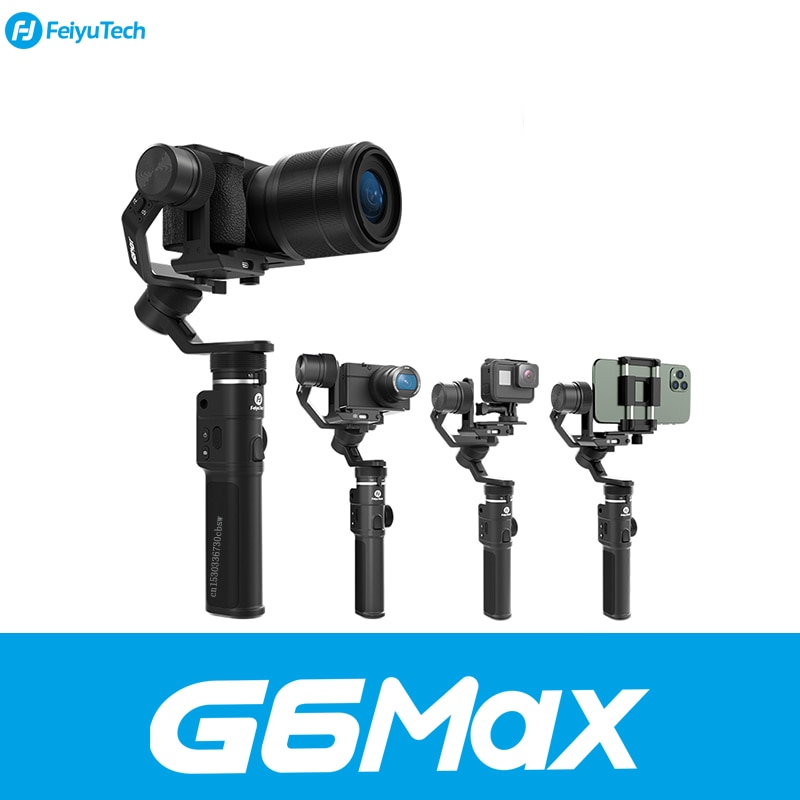 FeiyuTech G6 Splashproof Handheld Gimbal Wifi + Bluetooth OLED Screen Feiyu Action Camera for Gopro Hero