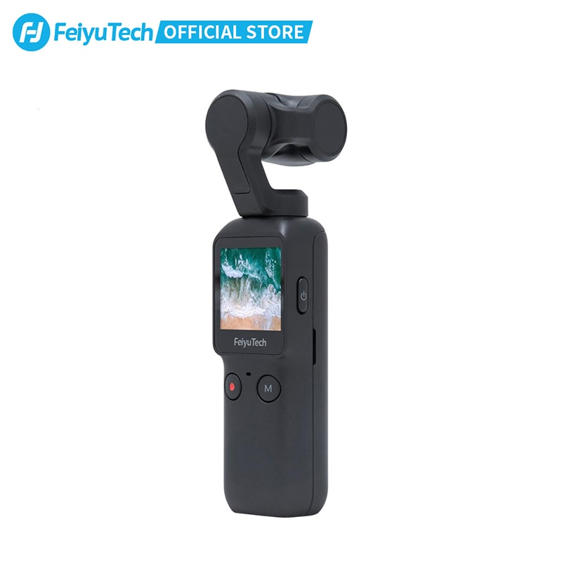 Feiyu Handheld Gimbal Stabilizer with UHD Camera For Video Recording Without Delay Autofocus POV All Follow Mode