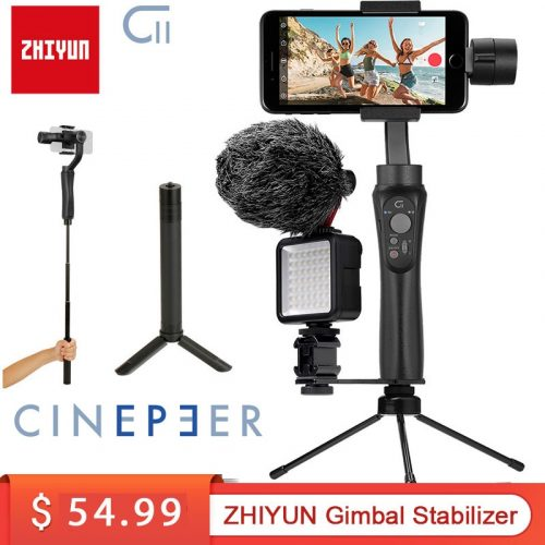 Zhiyun Cinepeer C11 3-Axis Smartphone Handheld Gimbal Stabilizer Dolly Zoom Panorama for Mobile Phones