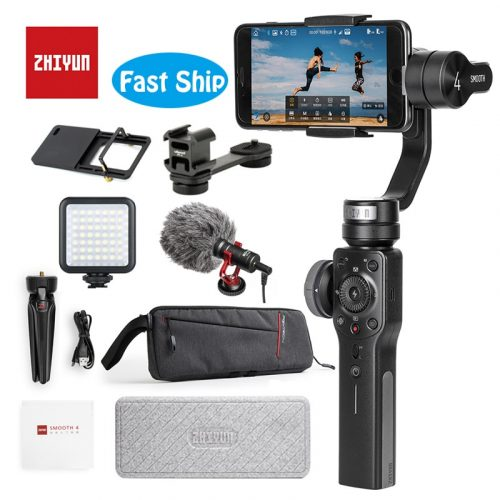 Zhiyun Official Smooth 4 Gimbal Handheld Stabilizer for Smartphones And Action Cameras
