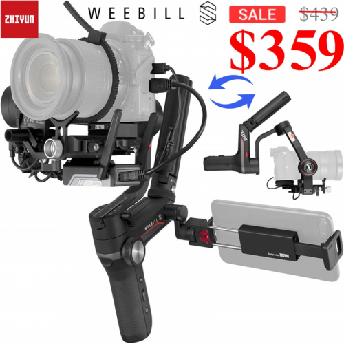 Zhiyun Weebill S PTZ Camera Stabilizer Supreme Power Two-in-one Auto Handheld Gimbal