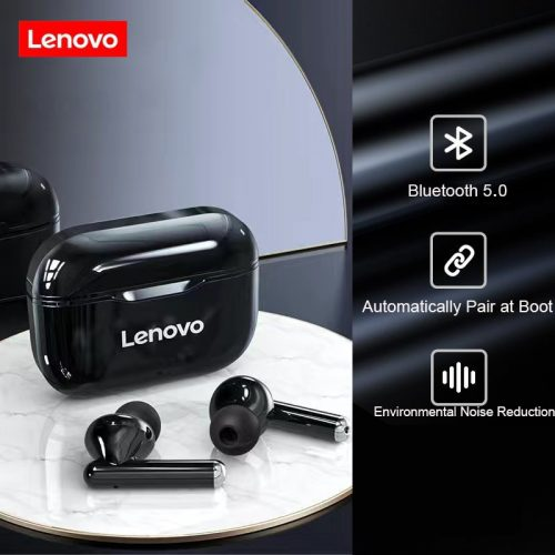 Lenovo LP1 Bluetooth 5.0 Earbuds Charging Box 9D Stereo Sports Waterproof TWS Headsets