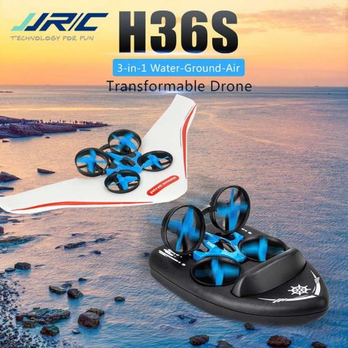 JJRC H36S 3-in-1 Water + Ground + Air Transformable Remote Control Aircraft Toy 2.4G RC Drone
