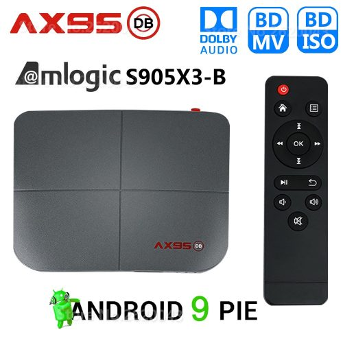 AX95 Smart 4K 75FPS TV Box with Dolby Sound Quality 4GB RAM + 32GB ROM Media Streaming Gadget