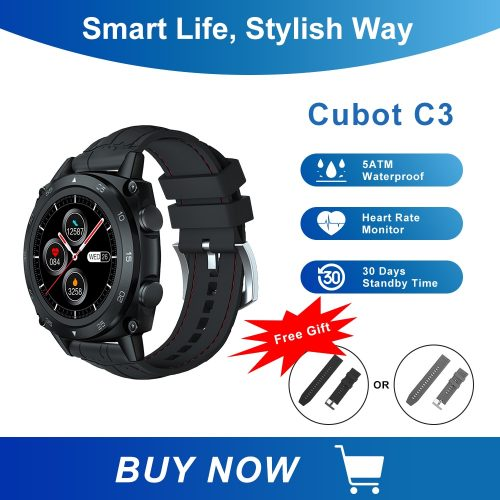 Cubot C3 Touch Fitness Watch Sport Heart Rate Sleep Monitor 5ATM WaterProof Smartwatch
