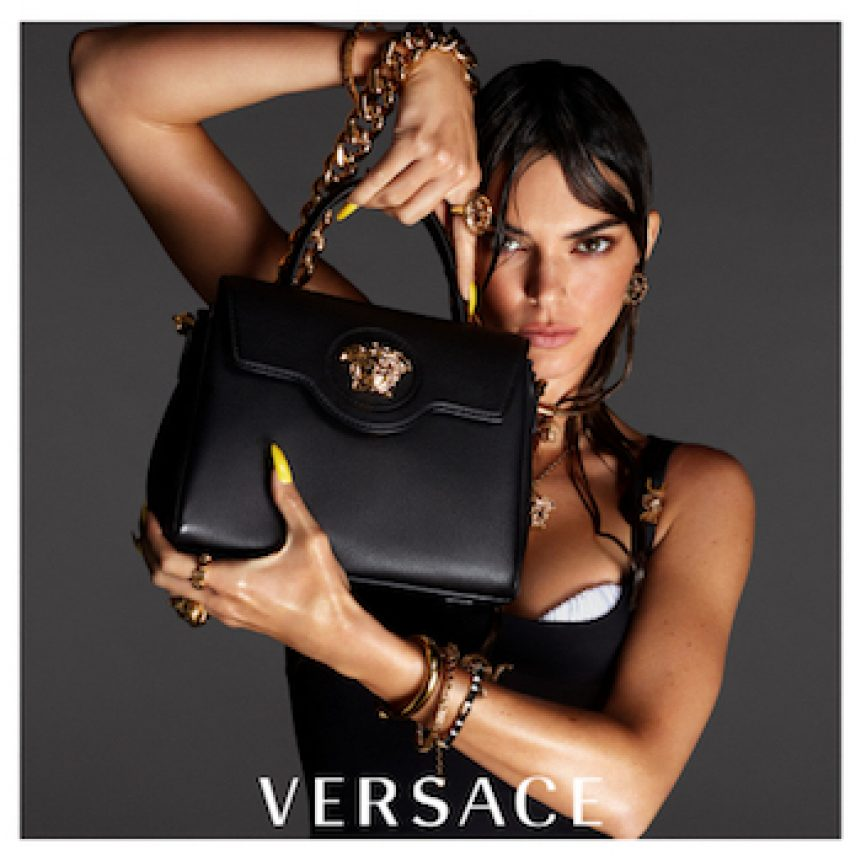 Versace lady with bag in hand