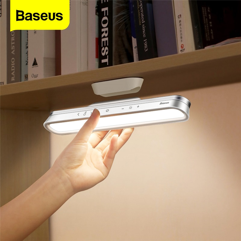 Baseus LED Desk Lamp Magnetic Absorption Color Infinite Dimming Rechargeable Reading Night Table Lamp