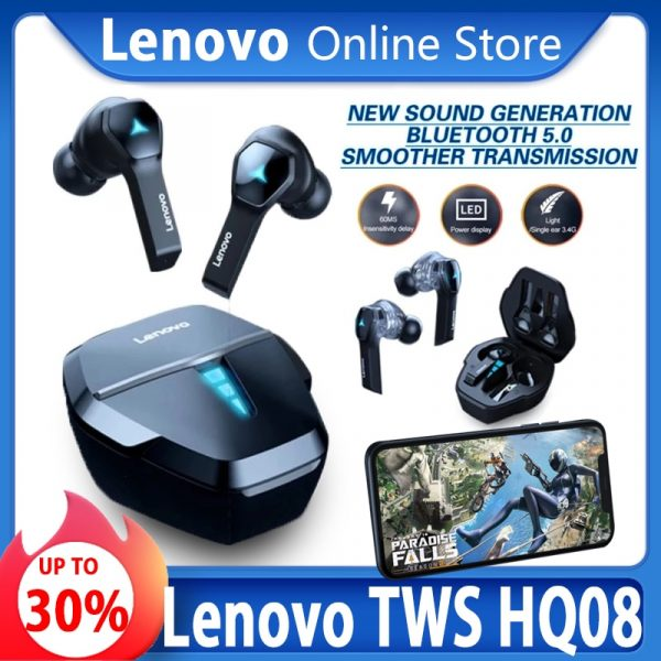 Lenovo HQ08 Wireless TWS Gaming Earbuds
