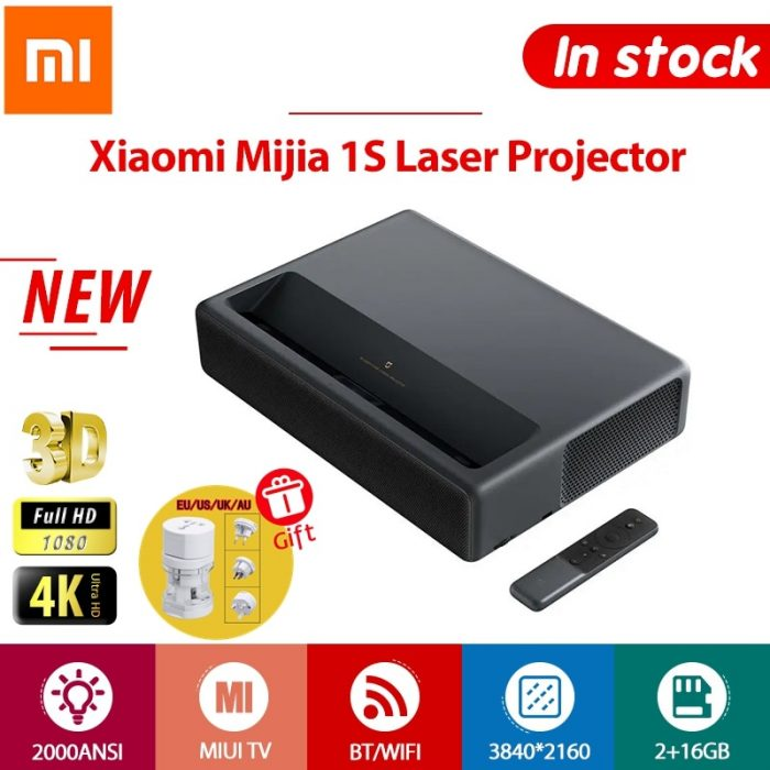 Mijia 1S 4K Laser Projector 150-inch 2000 ANSI Lumens 3840×2160 Resolution Projector